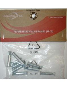Rollerblade Tornillos Alu Frame (9uds) Zinc Blanco