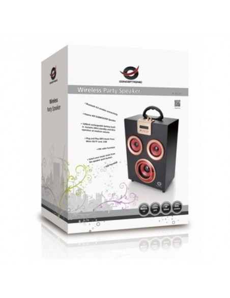 Conceptronic Altavoz Bluetooth MP3 USB/Radio - Altavoces